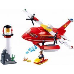 SLUBAN M38-B0629 B0629 0629 M38B0629 38-B0629 Xếp hình kiểu Lego FIRE RESCURE Arial Firefighting Plane Fire Hero Water Fire Aircraft Máy Bay Phản Lực Nước 348 khối