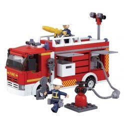 SLUBAN M38-B0626 B0626 0626 M38B0626 38-B0626 Xếp hình kiểu Lego FIRE RESCURE Water Tanker Fire Truck Fire Hero Jug Fire Truck Xe Cứu Hỏa Jug 343 khối