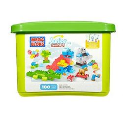 Mega Bloks Mega Bloks CYR23 Junior Builders Build-A-Story , Multi Color Xếp hình 100 khối