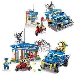 Kazi KY67257 67257 Xếp hình kiểu Lego Police Guardian Chasing Car 1 Change 2 Cảnh Sát Thành Phố Truy đuổi 580 khối