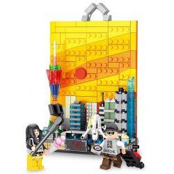 Panlosbrick 656003 (NOT Lego Mini Modular Guangzhou In The Evening ) Xếp hình Thành Phố Quảng Châu 329 khối