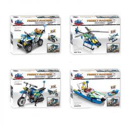 GBL KY1011 1011 KY1011-1 1011-1 KY1011-2 1011-2 KY1011-3 1011-3 KY1011-4 1011-4 Xếp hình kiểu Lego TECHNIC Project Machine Ô tô, xe máy địa hình, Máy bay, Thuyền máy gồm 4 hộp nhỏ 839 khối