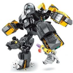 SHENG YUAN SY SY1338 1338 Xếp hình kiểu Lego SUPER HEROES Heroes Assemble người máy của Iron Man 328 khối
