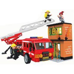 Winner 7023 Xếp hình kiểu Lego FIRE RESCURE Fire Brigade Fire Special Service Team Fire-fighting Ladder Xe Cứu Hỏa Có Thang 3 308 khối
