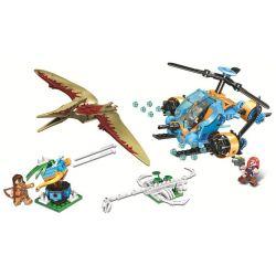 Winner 8049 (NOT Lego Jurassic World Explore The Dinosaur World ) Xếp hình Trực Thăng Thám Hiểm 307 khối