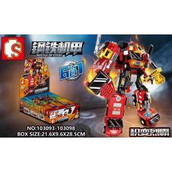 SEMBO 103093 103094 103095 103096 103097 103098 Xếp hình kiểu Lego TRANSFORMERS Mecha Of Steel Steel Machine Change The 6 Combination Of Six Jichang Lieba 6 Kết Hợp gồm 6 hộp nhỏ 649 khối