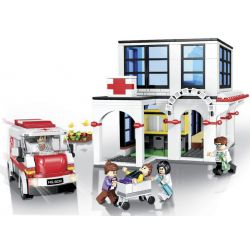 Winner 5032 Xếp hình kiểu Lego ROCK CITY Locke City Fire Department Trạm Cứu Hỏa 2 627 khối
