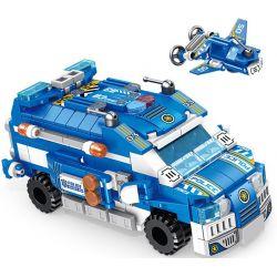 Panlosbrick 633015 (NOT Lego Police Stormtroopers ) Xếp hình Xe Chở Lính Của Cảnh Sát 12 Trong 1 569 khối