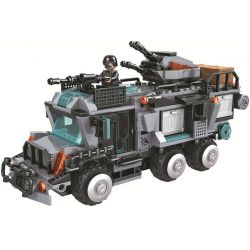 Winner 5064 Xếp hình kiểu Lego CROCODILE SPECIAL FORCES Magic Crocodile Team Raptor Main Battle Command Xe Chỉ Huy Chiến đấu Của Raptors 527 khối