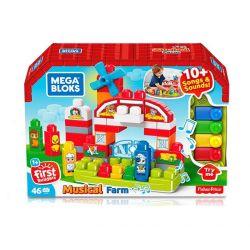 Mega bloks Mega Bloks GCT50 Musical Farm Preschool Xếp hình Xếp Hình Trường Mầm Non Âm Nhạc 46 khối