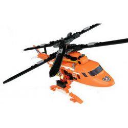 Kazi KY80524 80524 Xếp hình kiểu Lego FIRE RESCURE Six-wing Air Rescue Helicopter, Double-layer Rotor Helicopter 1 To 2 Máy bay trực thăng cứu hộ trên không sáu cánh, máy bay trực thăng cánh quạt hai