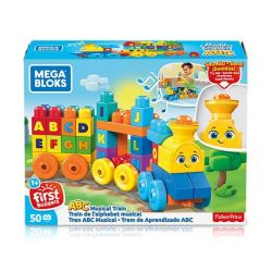 Mega bloks Mega Bloks FWK22 The Alphabet Train, Multicolored Xếp hình Xếp Hình Tàu Hỏa Bảng Chữ Cái, Nhiều Màu 50 khối