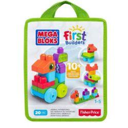Mega bloks Mega Bloks CNH10 First Builders Animal Adventures Xếp hình Xếp Hình Cuộc Phiêu Lưu Động Vật Đầu Tiên 20 khối