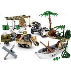 Sembo 101105 101106 101107 101108 (NOT Lego World War II The Fights Among Nations ) Xếp hình Chiến Tranh Thế Giới Ii Mini gồm 4 hộp nhỏ 335 khối