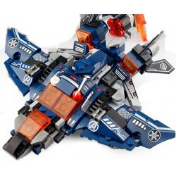 SHENG YUAN SY SY1335 1335 Xếp hình kiểu Lego MARVEL SUPER HEROES Heroes Assemble Avengers 4 Quenth Fighters 8 Combinations Máy Bay Chiến đấu Kiểu Kun 8 Tổ Hợp 331 khối