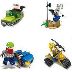 SHENG YUAN SY 1087 Xếp hình kiểu Lego COLLECTABLE MINIFIGURES Jedi Survival Human Jar Carrier 8 Models 8 Xe Cấu Hình Nhỏ 318 khối