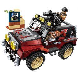 Enlighten 3203 Qman 3203 Xếp hình kiểu Lego ThunderMission Thunder Mission Sniper Bắn Tỉa Trên Xe Jeep 307 khối