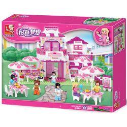 SLUBAN M38-B0150 B0150 0150 M38B0150 38-B0150 Xếp hình kiểu Lego GIRL'S DREAM Dolphin Bay Pink Dream Romantic Restaurant Nhà Hàng Lãng Mạn 306 khối