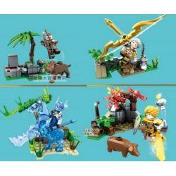 SEMBO 11838 11839 11840 11841 Xếp hình kiểu Lego KING OF GLORY HEGEMONY Small Scene 4 4 Cảnh Nhỏ gồm 4 hộp nhỏ 306 khối