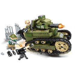 SEMBO 101269 Xếp hình kiểu Lego EMPIRES OF STEEL Steel Empire Renault FT17 Tank Xe Tăng Chiến đấu 368 khối