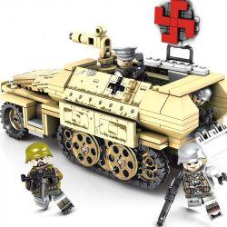 SEMBO 101321 Xếp hình kiểu Lego EMPIRES OF STEEL Steel Empire German SD.KFZ.251 Armored Vehicles Xe Bọc Thép Và 4 Sỹ Quan 355 khối