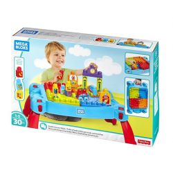 Mega Bloks Mega Bloks FGV05 Buildand Learn Table Xếp hình 30 khối