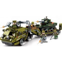 SEMBO 101391 Xếp hình kiểu Lego EMPIRES OF STEEL Steel Empire US Military Dragon Heavy Trailer Stuart Light Tank Xe Tăng Hạng Nhẹ Dragon Hạng Nặng Của Quân đội Mỹ 915 khối