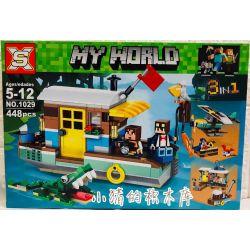 Decool 3142 Jisi 3142 SX 1029 XINH 5507 Xếp hình kiểu Lego CREATOR Riverside Houseboat Sanichi Kawanashiya 三合一 河畔船屋 396 khối
