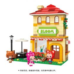 Enlighten 3902 Qman 3902 Xếp hình kiểu Lego ALI'S SMALL DREAMY TOWN Bloom Raccoon Honeyman Cửa Hàng Hoa Hồng Của Bác Gấu 306 khối