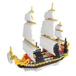 Yz 66501 Nanoblock Architecture Corsair Series - Sailing Xếp hình Xếp Hình Thuyền Buồm 3000 khối