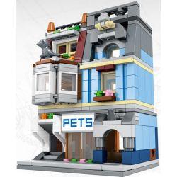 SEMBO SD6301 6301 Xếp hình kiểu Lego MODULAR BUILDINGS Pet Shop Cửa hàng thú cưng 305 khối