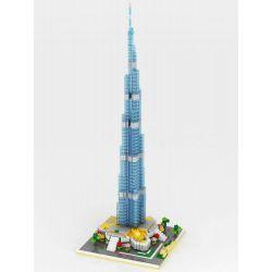 Yz 053 Nanoblock Architecture Burj Khalifa Tower Dubai Xếp hình Xếp Hình Tháp Burj Khalifa Dubai 1681 khối