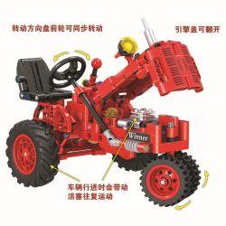 Winner 7070 Xếp hình kiểu Lego TECHNIC The Classical Old Tractor Classical Tractor 1 12 Máy Kéo Cổ điển 302 khối
