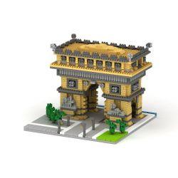 Yz 055 Nanoblock Architecture Triumphal Arch Paris Xếp hình Xếp Hình Khải Hoàn Môn Paris 1626 khối