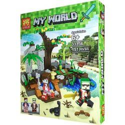 LELE 33136 33136-1 33136-2 Xếp hình kiểu Lego MINECRAFT My World Jungle Portfolio Version Of The Monkey Park Small Scene 2 2 In 1 Phiên Bản Kết Hợp Rừng Rậm Monkey Paradise Cảnh Nhỏ 2 Loại 2 Trong 1 g