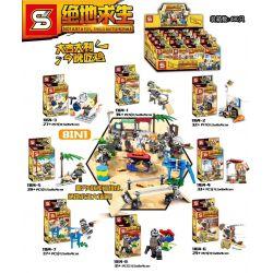 SHENG YUAN SY 1164 1164-1 1164-2 1164-3 1164-4 1164-5 1164-6 1164-7 1164-8 Xếp hình kiểu Lego PUBG BATTLEGROUNDS Jedi Survived People Small Scene 8 8 Cảnh Mini Của PlayerUnknown's Battlegrounds gồm 8