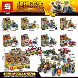 SHENG YUAN SY 1223 1223-1 1223-2 1223-3 1223-4 1223-5 1223-6 1223-7 1223-8 Xếp hình kiểu Lego COLLECTABLE MINIFIGURES Jedi Survival 8 Models Of Motorcycle People 8 Tay Súng Lái Mô Tô gồm 8 hộp nhỏ
