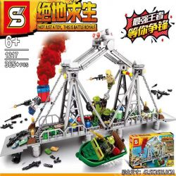 SHENG YUAN SY 1216 1216A 1216B 1216C 1216D 1217 Xếp hình kiểu Lego BATTLE ROYALE Jedi Survival 5 Combinations Of Large Scenes 5 Cảnh Kết Hợp gồm 6 hộp nhỏ