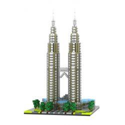 Yz 057 Nanoblock Architecture Kuala Lampur Petronas Tower Xếp hình Tháp Petronas Kuala Lampur 2351 khối