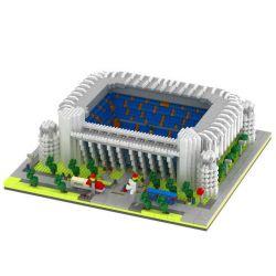Yz 064 Nanoblock Architecture Bernabeu Footbal Stadium Xếp hình Sân Vận Động Bernabeu Tây Ban Nha 4575 khối