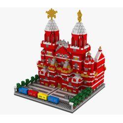 Yz 067 Nanoblock Architecture Vasily Cathedral Xếp hình Nhà Thờ Thánh Vasily 2384 khối