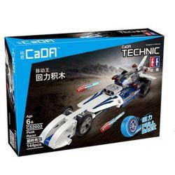 NOT Lego TECHNIC 42033 Record Breaker, Decool 3415 Jisi 3415 DOUBLEE CADA C52003 52003 C52003W 52003W QUNLONG QL0401 0401 Xếp hình xe ô tô giữ kỷ lục tốc độ 125 khối có động cơ kéo thả
