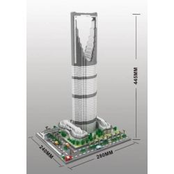Yz 070 Nanoblock Architecture Kingdom Tower Xếp hình Tháp Kingdom 4692 khối