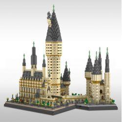 Yz 071 Nanoblock Architecture Hogwarts Castle Xếp hình Lâu Đài Hogwarts 7750 khối