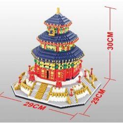 Yz 66525 Nanoblock Architecture The Temple Of Heaven Xếp hình Đền Thờ Thiên Đường 7880 khối