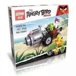 NOT Lego THE ANGRY BIRDS MOVIE 75821 Piggy Car Escape Angry Bird Pork Car Escape , Bela 10505 Lari 10505 LEPIN 19001 Xếp hình Cuộc Tẩu Thoát Của Siêu Trộm Trứng Piggy 74 khối