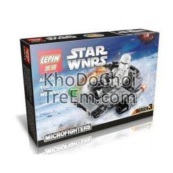 Lepin 05012 (NOT Lego Star wars 75126 First Order Snowspeeder ) Xếp hình Tàu Trượt Tuyết 97 khối