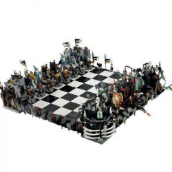 NOT Lego GEAR 852293 Castle Giant Chess Set Castle Large Chess , LEPIN 16019 Xếp hình Bộ Cờ Khổng Lồ 2454 khối