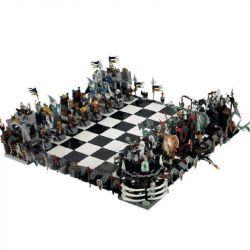 LEPIN 16019 Xếp hình kiểu Lego GEAR Castle Giant Chess Set Castle Large Chess Bộ Cờ Khổng Lồ 2454 khối