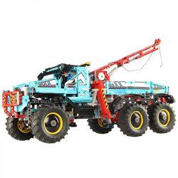 NOT Lego TECHNIC 42070 6x6 All Terrain Tow Truck 6 × 6 Full Terrain Trail Truck , KING 90038 LEPIN 20056 Xếp hình Xe Bán Tải 6 Bánh Chủ động Có Cẩu 1862 khối điều khiển từ xa